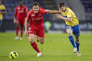 Morten Frendrup (Br�ndby IF), Erik Sviatchenko (FC Midtjylland)