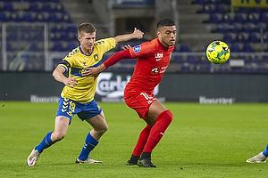 Morten Frendrup (Br�ndby IF), Evander Ferreira (FC Midtjylland)