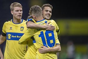 Jesper Lindstr�m, m�lscorer (Br�ndby IF), Andreas Bruus (Br�ndby IF)
