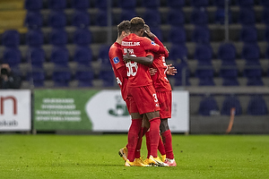 Pione Sisto (FC Midtjylland), Frank Onyeka (FC Midtjylland), Anders Dreyer (FC Midtjylland)