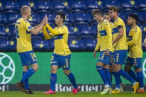 Blas Riveros, m�lscorer (Br�ndby IF), Hj�rtur Hermannsson (Br�ndby IF)