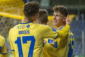 Andreas Bruus (Br�ndby IF), Jesper Lindstr�m, m�lscorer (Br�ndby IF)
