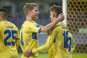 Sigurd Rosted (Br�ndby IF), Jesper Lindstr�m, m�lscorer (Br�ndby IF)