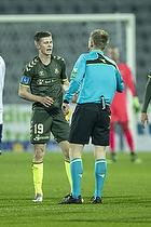 Morten Frendrup (Br�ndby IF), J�rgen Daugbjerg Burchardt, dommer