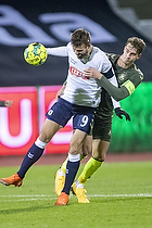Patrik Mortensen  (Agf), Andreas Maxs�, anf�rer (Br�ndby IF)