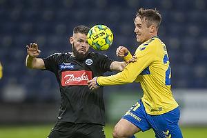 Lasse Vigen Christensen (Br�ndby IF), Marc Dal Hende  (S�nderjyskE)