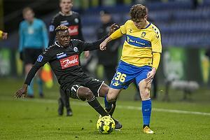 Mathias Kvistgaarden  (Br�ndby IF), Rilwan Hassan  (S�nderjyskE)