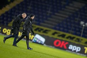 Niels Frederiksen, cheftr�ner (Br�ndby IF), Jesper S�rensen, assistenttr�ner (Br�ndby IF)