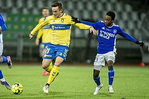 Lasse Vigen Christensen (Br�ndby IF), Emmanuel Toku  (Fremad Amager)