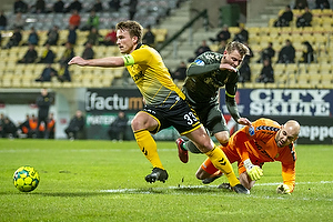 Simon Hedlund (Br�ndby IF), Alexander Ludwig, anf�rer (AC Horsens), Matej Delac (AC Horsens)