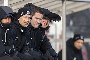 Martin Retov, assistenttr�ner (Br�ndby IF), Jesper S�rensen, assistenttr�ner (Br�ndby IF), Niels Frederiksen, cheftr�ner (Br�ndby IF)