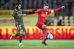 Kian Hansen, anf�rer  (FC Nordsj�lland), Rezan Corlu (Br�ndby IF)