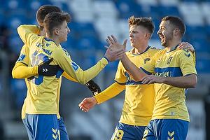 Jesper Lindstr�m, m�lscorer (Br�ndby IF), Josip Radosevic (Br�ndby IF), Morten Frendrup (Br�ndby IF)