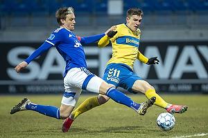 Kasper Enghardt, anf�rer  (Lyngby BK), Mikael Uhre (Br�ndby IF)