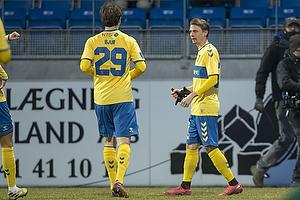 Simon Hedlund, m�lscorer (Br�ndby IF), Peter Bjur (Br�ndby IF)