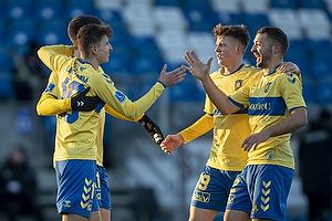 Jesper Lindstr�m, m�lscorer (Br�ndby IF), Morten Frendrup (Br�ndby IF), Josip Radosevic (Br�ndby IF)