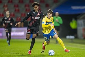 Mikael Uhre (Br�ndby IF), Jens-Lys Cajuste  (FC Midtjylland)