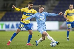 Kasper Waarst H�gh  (Randers FC), Anis Slimane (Br�ndby IF)