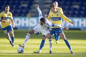 Carlos Zeca, anf�rer  (FC K�benhavn), Jesper Lindstr�m (Br�ndby IF)