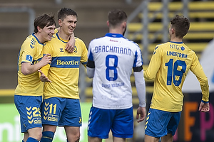 Mikael Uhre, m�lscorer (Br�ndby IF), Peter Bjur (Br�ndby IF), Jesper Lindstr�m (Br�ndby IF)