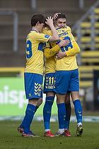 Mikael Uhre, m�lscorer (Br�ndby IF), Morten Frendrup (Br�ndby IF), Jesper Lindstr�m (Br�ndby IF)