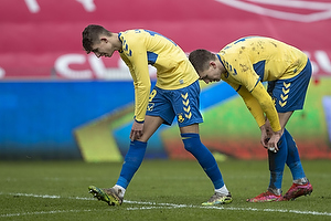 Jesper Lindstr�m (Br�ndby IF), Mikael Uhre, m�lscorer (Br�ndby IF)