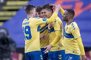 Morten Frendrup (Br�ndby IF), Mikael Uhre, m�lscorer (Br�ndby IF), Jesper Lindstr�m (Br�ndby IF)