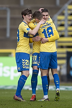 Peter Bjur (Br�ndby IF), Mikael Uhre, m�lscorer (Br�ndby IF)