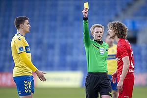 Mikael Uhre (Br�ndby IF), Alexander Munksgaard  (Agf), J�rgen Daugbjerg Burchardt, dommer