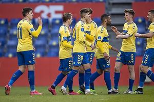 Mikael Uhre, m�lscorer (Br�ndby IF), Jesper Lindstr�m (Br�ndby IF)