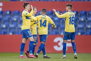 Mikael Uhre, m�lscorer (Br�ndby IF), Kevin Mensah (Br�ndby IF), Jesper Lindstr�m (Br�ndby IF)