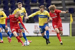 Lasse Vigen Christensen (Br�ndby IF), Albert Gr�nb�k  (Agf), Alexander Munksgaard  (Agf)