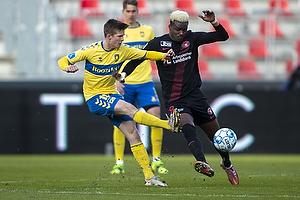 Jesper Lindstr�m (Br�ndby IF), Sory Kaba  (FC Midtjylland)