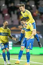 Lasse Vigen Christensen (Br�ndby IF), Andrija Pavlovic, m�lscorer (Br�ndby IF)
