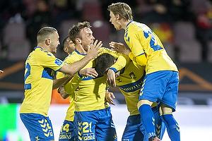 Josip Radosevic (Br�ndby IF), Lasse Vigen Christensen (Br�ndby IF), Simon Hedlund (Br�ndby IF), Andrija Pavlovic, m�lscorer (Br�ndby IF)