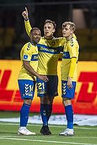 Lasse Vigen Christensen, m�lscorer (Br�ndby IF), Kevin Mensah (Br�ndby IF), Oskar Fallenius (Br�ndby IF)