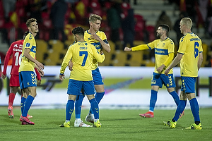 Andreas Bruus (Br�ndby IF), Rezan Corlu (Br�ndby IF), Andreas Maxs�, anf�rer (Br�ndby IF), Hj�rtur Hermannsson (Br�ndby IF)