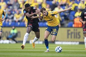Jesper Lindstr�m (Br�ndby IF), Frank Onyeka  (FC Midtjylland)