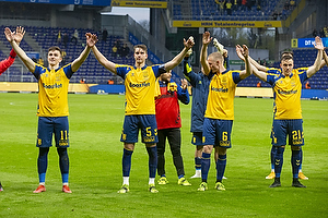 Mikael Uhre (Br�ndby IF), Andreas Maxs� (Br�ndby IF), Hj�rtur Hermannsson (Br�ndby IF), Lasse Vigen Christensen (Br�ndby IF)