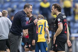 Brian Priske, cheftr�ner  (FC Midtjylland), Erik Sviatchenko  (FC Midtjylland)