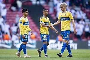 Rezan Corlu (Br�ndby IF), Kevin Mensah (Br�ndby IF), Tobias B�rkeeiet (Br�ndby IF)