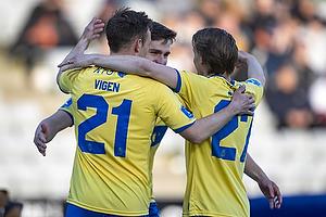 Mikael Uhre, m�lscorer (Br�ndby IF), Lasse Vigen Christensen (Br�ndby IF), Simon Hedlund (Br�ndby IF)
