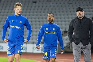 Andreas Maxs� (Br�ndby IF), Kevin Mensah (Br�ndby IF), Carsten V. Jensen, fodbolddirekt�r (Br�ndby IF)