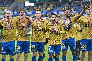 Hj�rtur Hermannsson (Br�ndby IF), Peter Bjur (Br�ndby IF), Lasse Vigen Christensen (Br�ndby IF), Rezan Corlu (Br�ndby IF), Anis Slimane (Br�ndby IF)