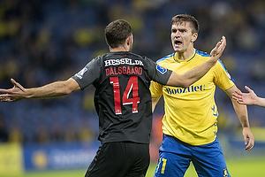 Mikael Uhre  (Br�ndby IF), Henrik Dalsgaard  (FC Midtjylland)