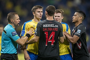 Mikael Uhre  (Br�ndby IF), Henrik Dalsgaard  (FC Midtjylland), Morten Frendrup  (Br�ndby IF)