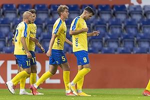 Andrija Pavlovic, m�lscorer  (Br�ndby IF), Andreas Maxs�  (Br�ndby IF), Michael Lumb  (Br�ndby IF)