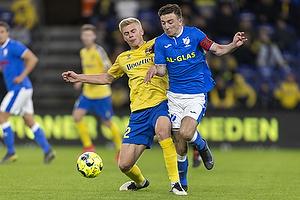 Tobias B�rkeeiet  (Br�ndby IF), S�ren Freund, anf�rer  (Aller�d Fodbold Klub)