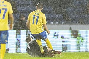 Mikael Uhre  (Br�ndby IF), Patrik Carlgren  (Randers FC)