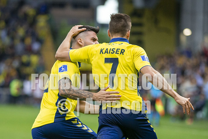 Dominik Kaiser, m�lscorer (Br�ndby IF), Anthony Jung (Br�ndby IF)